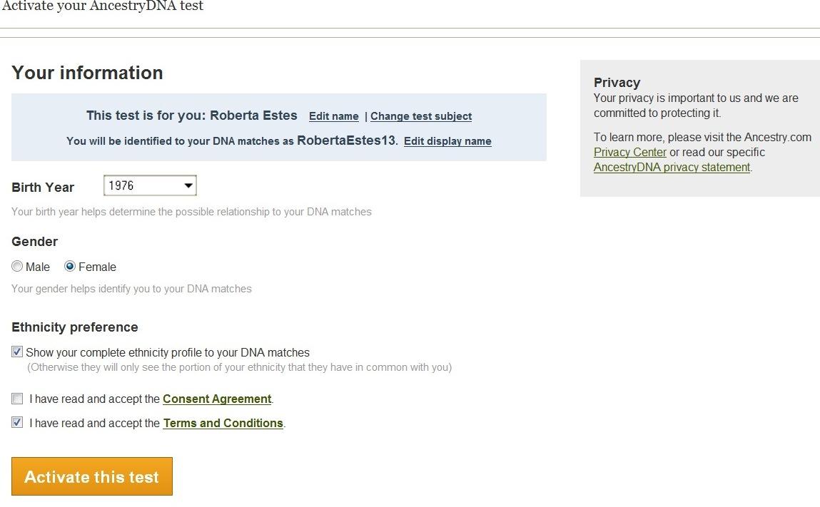 Ancestry's Consent Form for AncestryDNA Autosomal Test ...