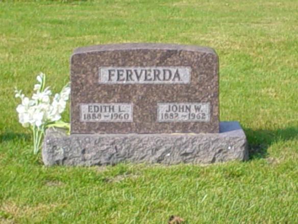 Edith and John Ferverda stone