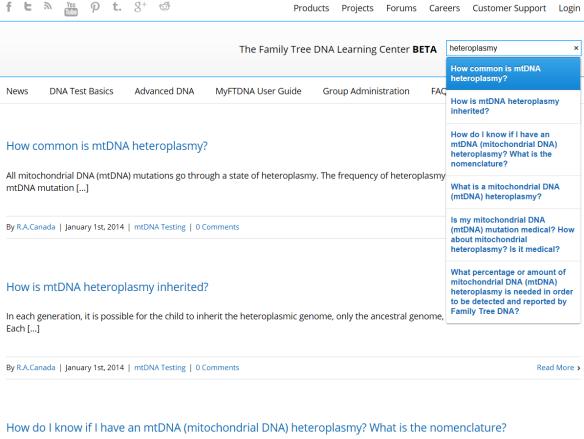 learning center heteroplasmy
