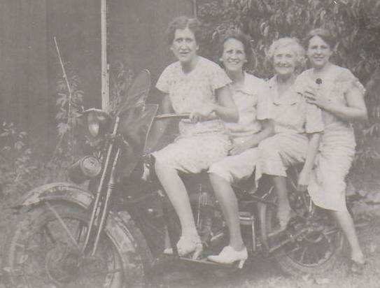Lore women on motorcycle