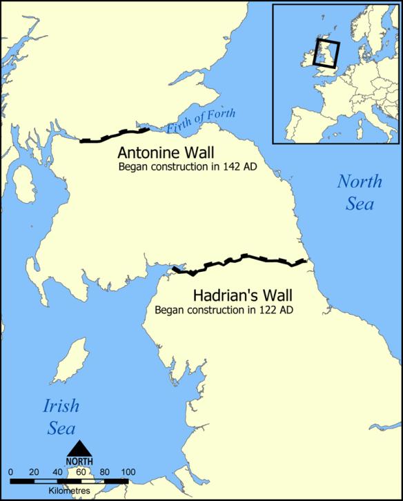 Antonine wall map