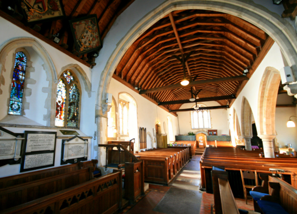 St Marys Nonington interior