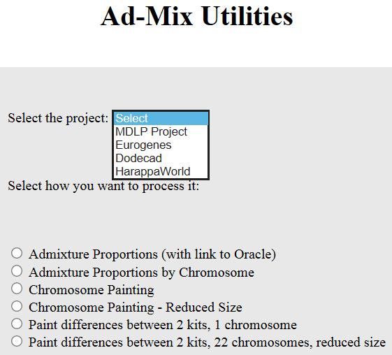 gedmatch admix utilities