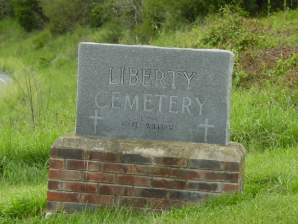 liberty cemetery sign