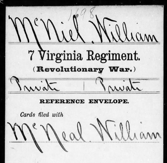 McNeal, William rev war
