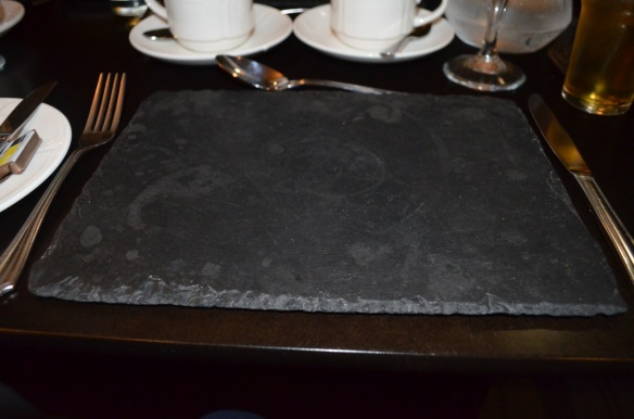 slate placemat