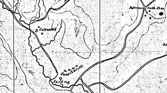 camp cottrell civil war map