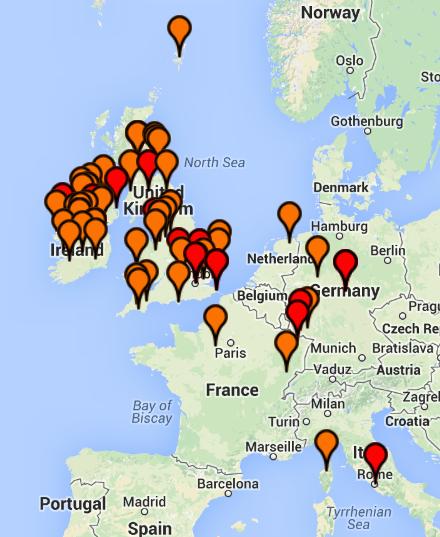 estes matches map 12