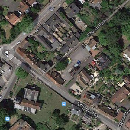 st leonard aerial church path