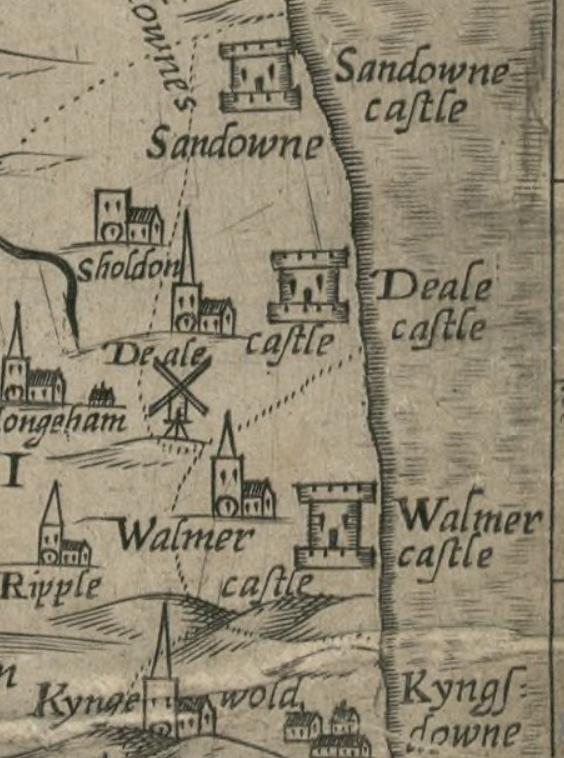 symonson 1596 map kent crop
