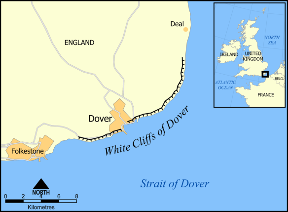 white cliffs map