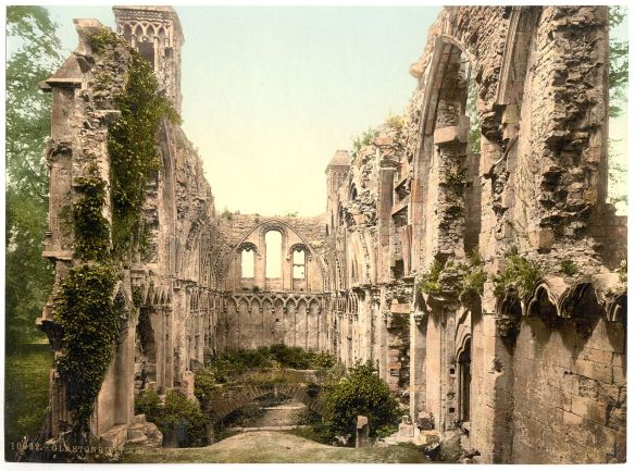 glastonbury abbey 1900