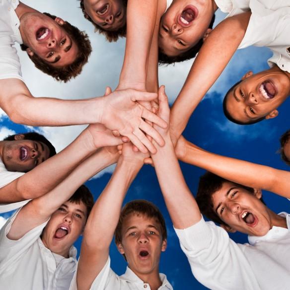 Cricket Team Holding Hands