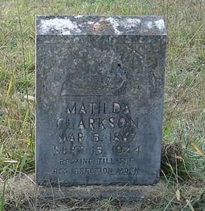 Clarkson cemetery Matilda