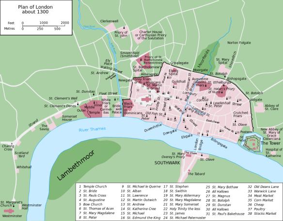 London map 1300
