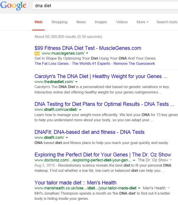 google dna diet