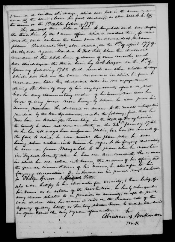 Abraham Workman Pension app 1834 Tazewell Co Va2