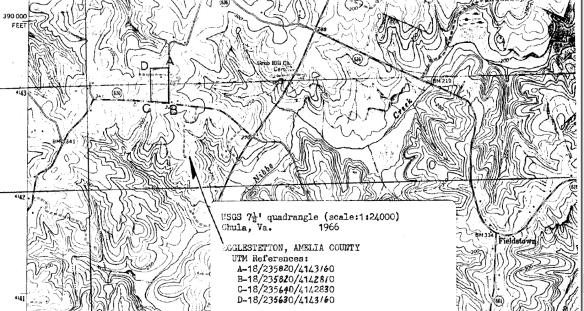 Combs Eggleston plantation topo
