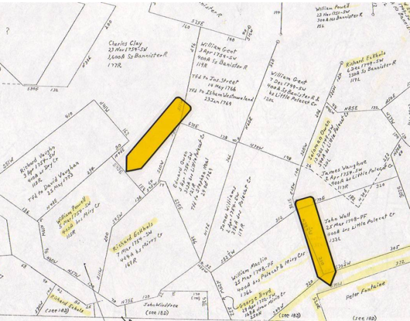 Estes Halifax Land Grant map