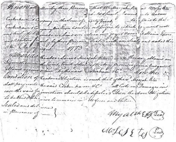 Moses signature on Micijah lawsuit