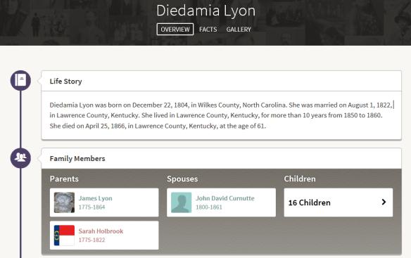 new ancestor Diedamia story