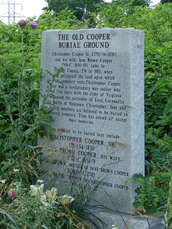 Old Cooper burial stone