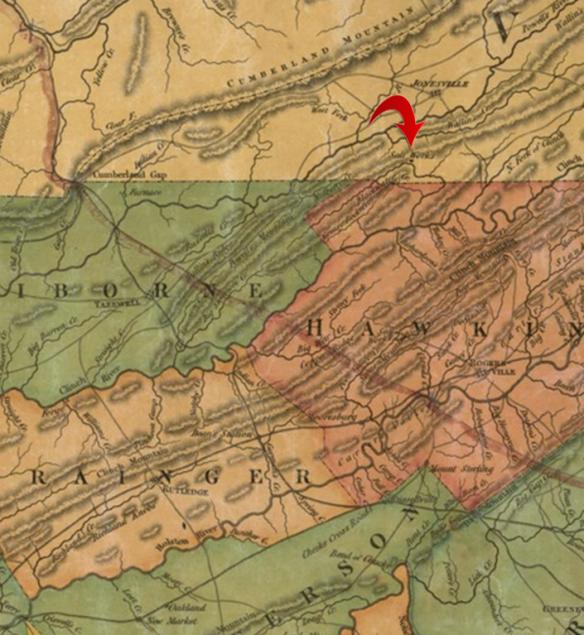 1832 Rhea map salt works