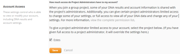 privacy and sharing project admin access