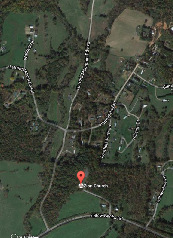 Zion Baptist map