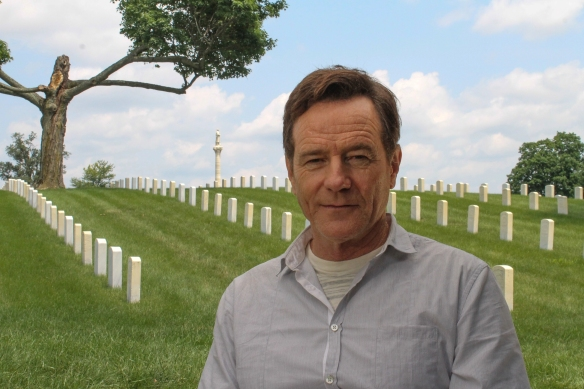 Bryan Cranston in the cemetery.