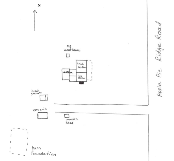 James Crumley land layout