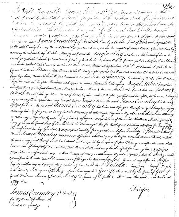 James VA land grant#3