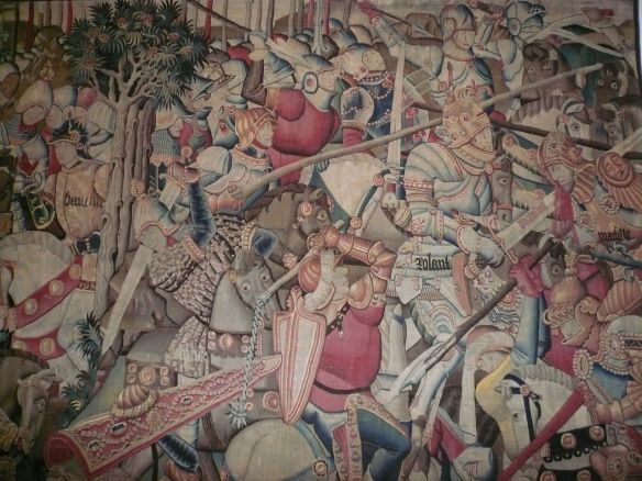 Charlemagne battle tapestry
