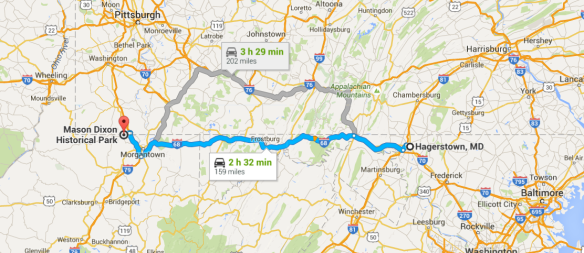 Hagerstown to Mason-Dixon