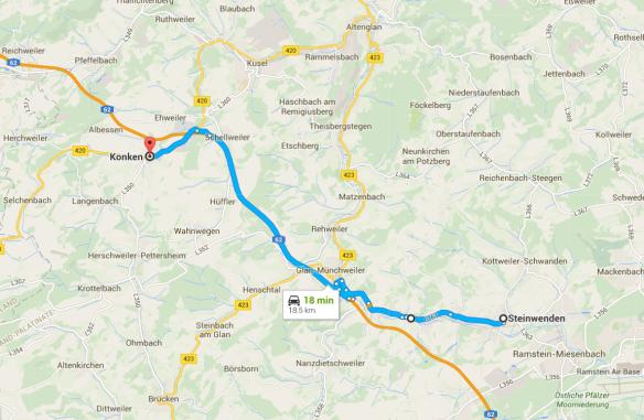 Konken Steinwenden map