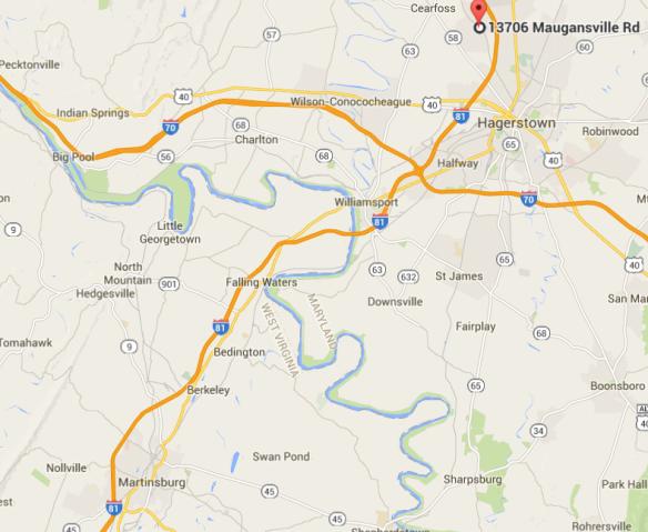 Johann Michael Miller Mueller The Second Brethren - Antietam on us map