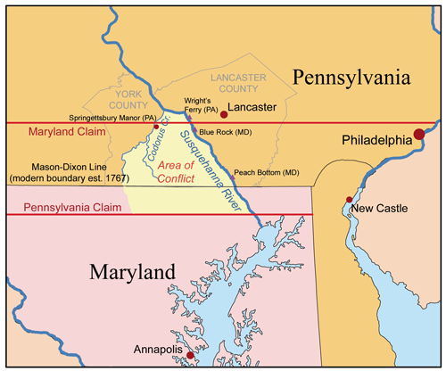 PA-MD boundary issue