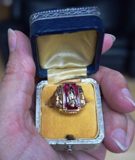 Frank's ring in box