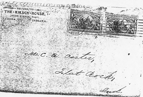 Jacob Kirsch House envelope front