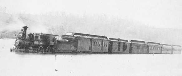 Jacob Kirsch train in flood