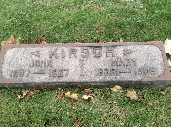 John Kirsch headstone