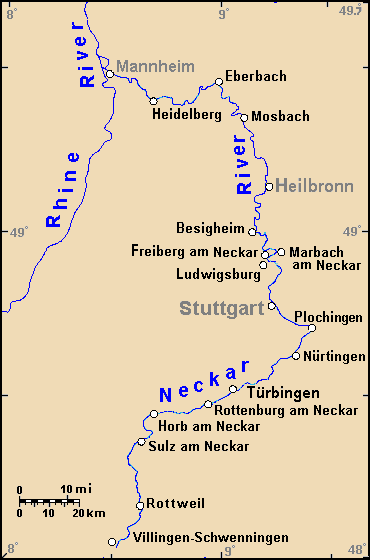 Rhine Neckar map