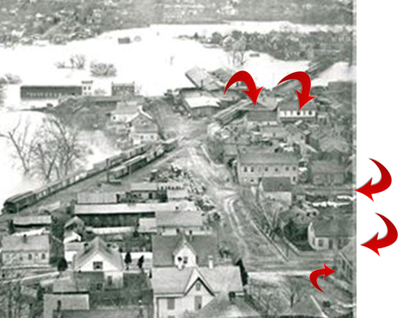 1883 Aurora flood family properties