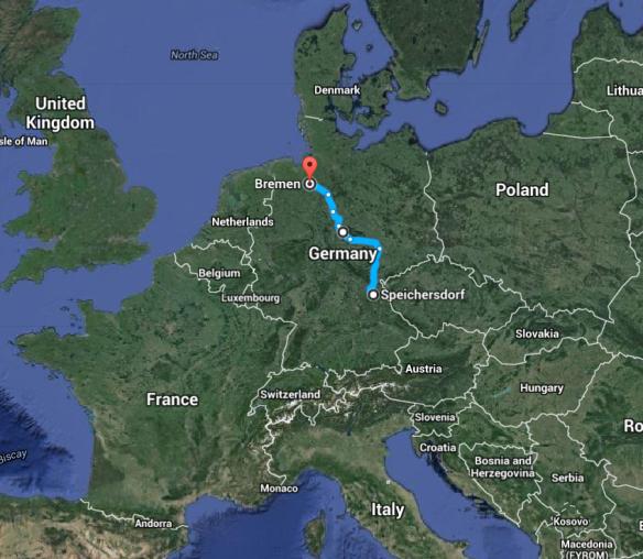 Speichersdorf to Bremen