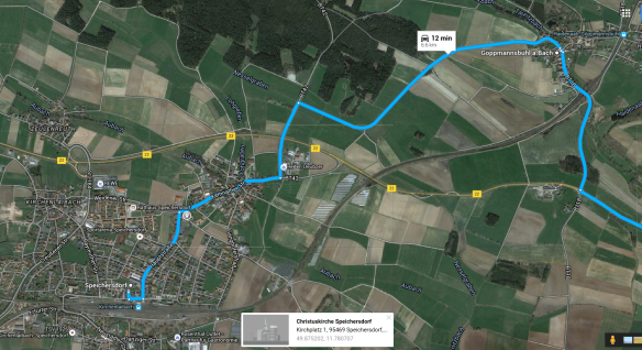 Speichersdorf to Goppmannsbuhl