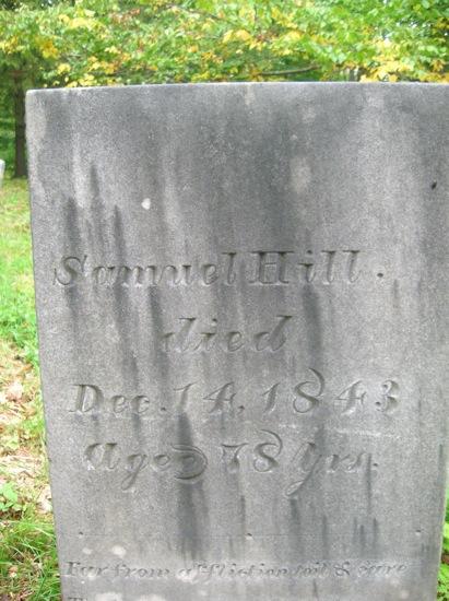 Samuel Hill d 1843