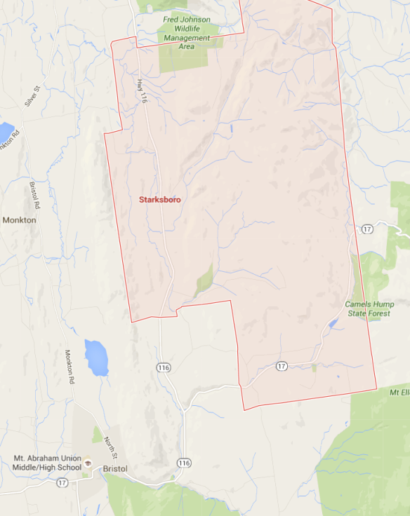 Starksboro map