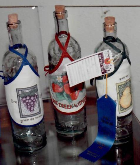 Lentz wine bottles