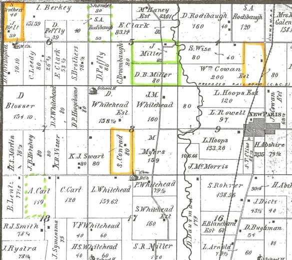 Margaret Lentz 1874 Jackson Twp map