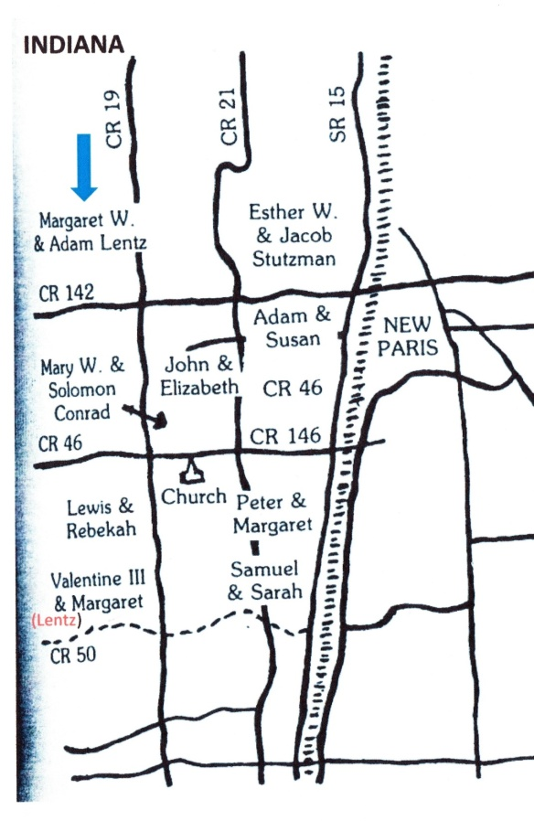Margaret Lentz Keith map
